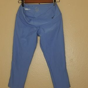 Nike blue workout capris